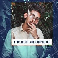 Pra servir de inspiração, FADE ALTO COM POMPADOUR. Agende seu horário. #barbearia #ahazoubarbearia #barba #cabelo #fade #pompadour