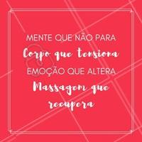 Massagem é a melhor forma de acalmar a mente e recuperar as energias! Que tal marcar um horário e vir relaxar?  #massagem #massoterapia #ahazoumassagem #massagemrelaxante #mãosquecuidam