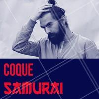 O Coque Samurai ganhou as ruas. Fica bom modelado com pomada e preso bem no topo da cabeça! #barbearia #ahazou #cortemasculino #cortesamurai #homens #moda #tendencia #estilo