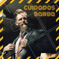 Para manter a sua barba bonita é indicado o uso de bálsamos específicos para hidratar e manter os fios saudáveis. #barbearia #ahazou #homens #tendencia #cuidados