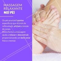 Massagem nos pés é tudo de bom! 😍  #cuidadoscomospes #pes #ahazou #podologia #massagemnospes