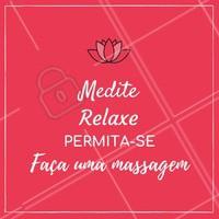 Separe um tempinho para relaxar a mente! Agende seu horário!  #massagem #ahazoumassagem #massoterapia