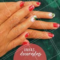 Faça a sua unha decorada! Agende o seu horário. #unhas #ahazou #manicure #decorada #horario