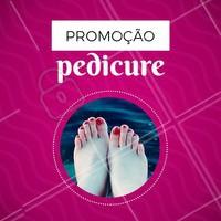 Hoje é dia de promoção. Venha fazer a sua pedicure com desconto. Marque o seu horário. #pedicure #ahazou #pes #unhas #desconto #promocao