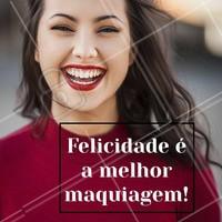 Vista o seu melhor hoje! Ah, e não esqueça do batom vermelho. 💄 #maquiagem #ahazou #make #felicidade #bonita #batomvermelho