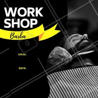 Venha aprender novas técnicas de como desenhar a barba. Poucas vagas!  #barbearia #ahazou #homens #workshop