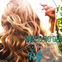 Aproveite a promoção para cuidar das madeixas. Marque o seu horário agora mesmo! #cabelo #ahazou #cuidados #promocao #bonita