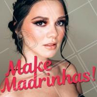 Vai ser madrinha de casamento? Agende o seu horário para atendimento domiciliar! #maquiagem #ahazou #casamento #makeemcasa