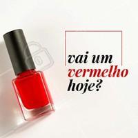 Agende a sua manicure da semana! #manicure #ahazou #unhas #vermelho