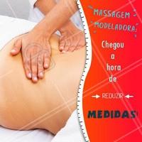Quer reduzir medidas e esculpir as curvas do corpo? Agende já sua massagem modeladora! #massagemmodeladora #ahazou #esteticacorporal #estetica