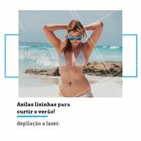 Quer curtir o verão sem se preocupar com a depilação das axilas? Vai de depilação a laser! Para conhecer, agende sua avaliação gratuita. #depilaçaoalaser #ahazou #depilaçao #axilas