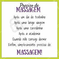A melhor hora para uma massagem é sempre! ;) #massagem #ahazou #massoterapia