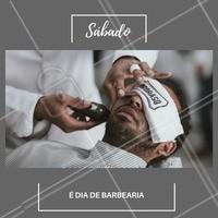 Sábadão é dia de fazer barba e bigode. Agende o seu horário! #barbearia #ahazou #convite #agenda #barba