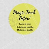 O Magic Touch Detox é o tratamento queridinho das famosas para reduzir medidas, perder peso e reduzir a celulite! Auxilia no emagrecimento e elimina líquidos e toxinas retidas no organismo. Agende uma avaliação e conheça! #magictouchdetox #ahazou #esteticacorporal #estetica