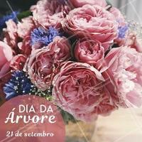 Hoje é dia da árvore. Aproveite para homenager o dia decorando o seu salão com flores! #diadaarvore #ahazou #flores #alegria #vida