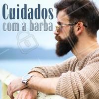 Manter a barba farta e cheia requer cuidados. Você deve usar cremes hidratantes específicos e aparar sempre para o formato se manter. #barbearia #ahazou #dicas #homens #barba