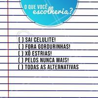 Qual você escolheria? Conta pra gente!  #esteticacorporal #ahazouestetica #celulite #estrias #gorduralocalizada