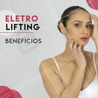 O eletrolifting estimula a produção de novas fibras que preenchem essas falhas na pele por meio de eletricidade. Com o aumento da circulação e nutrição da área, há também um aumento de colágeno e elasticidade da pele na região aplicada. #eletrolifting #ahazou #esteticafacial #estetica