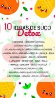 Precisando de ideias para fazer um suco saudável e detox? Olha só essa lista! 😍 #sucodetox #ahazou #nutriçao #suco #alimentaçao