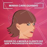 Quem nunca? 😂 Vamos lembrar que a progressiva não dura para sempre e o retoque é sempre necessário! #progressiva #ahazou #cabelo #meme #engracado