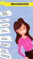 Curte aqui se você também ama a sua maquiadora! #maquiagem #ahazou #engracao #meme #divertido