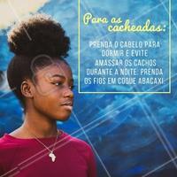 Atenção cacheadas! Lembrem-se dessa dica para um day after impecável!  #cachos #dayafter #ahazou #cacheadas #afro