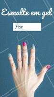 Aproveite a promoção para fazer a sua manicure com esmalte em gel. #unhas #ahazou #manicure #esmaltegel