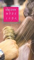Cabelos lindos e modelados do jeito que você ama? Agende o horário da sua escova modelada! 😍 #cabelo #ahazou #escovamodelada #escova