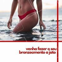 Fique linda para o verão. Agende agora o seu horário. #bronzeamento #ahazou #jato #verao #bronze