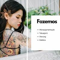Venha conhecer e agendar uma avaliação. #tatuagem #ahazou #micropigmentacao #piercing