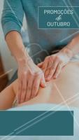 Confere só os precinhos especiais desse mês!  #outubro #massagem #massoterapia #ahazou #promoçao #promocional #promoçoesdomes