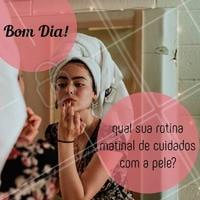 E aí? Conta aqui nos comentários como você cuida da pele logo que acorda! #esteticafacial #ahazou #estetica