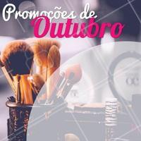 Confere só os precinhos especiais desse mês!  #outubro #maquiagem #make #ahazou #promoçao #promocional #promoçoesdomes