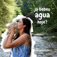 Não esqueça: beber água todos os dias faz bem para a saúde e beleza do corpo! 💦 #agua #ahazou #saude #bemestar #alimentaçao