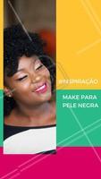 O que acham dessa inspiração, meninas? Batom vibrante na pele negra é mara! #pelenegra #maquiagem #ahazou #make #inspiracaomake