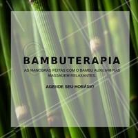 Agende o seu horário e sinta os benefícios da bambuterapia! #massagem #ahazou #bambuterapia