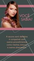 Essa é uma das inúmeras vantagens da escova semi definitiva. #escovasemidefinitiva #ahazou #escova #liso #cabelo #salaodebeleza