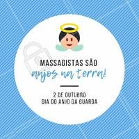 Eles te protegem e te ajudam ficar melhor. #massagista #ahazou #anjodaguarda #engracado #motivacional