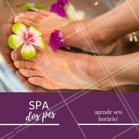 Aproveite para marcar o seu SPA dos pés. #pedicure #ahazou #pes #spa