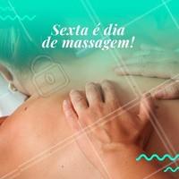 Venha relaxar e se preparar para curtir o fim de semana plena e livre de dores. Você merece! 🙏 #massagem #massoterapia #ahazou #sextafeira