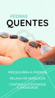 A massagem com pedras quentes é muito indicada em casos de estresse, dores musculares e circulação! Agende seu horário. #massagem #ahazou #massoterapia #Pedrasquentes