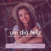 Comemore o dia do sorriso com um belo sorriso no rosto! #diadosorriso #ahazou #datascomemorativas