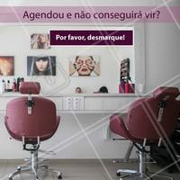 Isso nos ajuda a atender todas as clientes e manter a agenda organizada! 😉 Agradecemos a compreensão! #cabelo #ahazou #horario #cancelamento