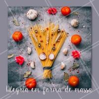 Quem também ama uma boa massa? Comente aqui a sua favorita! #alimentacao #ahazou #massa #enquete
