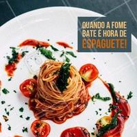 Venha provar nosso espaguete! #alimentacao #ahazou #massa