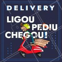 Delivery rapidinho no conforto da sua casa! Aproveite e peça já sua pizza. #pizza #ahazou #pizzaria #alimentaçao #delivery #comida