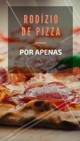 Junte os amigos, a família e venha curtir nosso rodízio de pizza! #pizza #ahazou #pizzaria #alimentaçao #comida