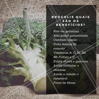 Veja as vitaminas e fibras do brócolis e acrescente em sua dieta. #alimentacao #ahazou #brocolis #saude #dieta