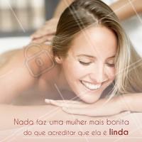 Lógico que você é linda, mara vida! #mulher #ahazou #bonita #ahazoumotivacional #bonita #motivacao #autoestima