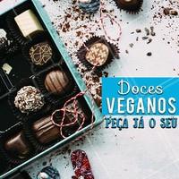Experimente nossas delícias veganas e aproveite um docinho sem crueldade e ingredientes de origem animal. 🐮❤️️ #doces #doceria #ahazou #comida #alimentaçao #docevegano #brigadeirovegano #docesveganos